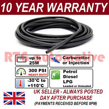"3.2mm 1/8"" RUBBER OIL FUEL HOSE PETROL DIESEL WATER 300 PSI PER 1 METRE J30R6/R7"