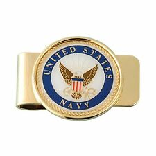 US NAVY INSIGNIA MONEY CLIP - CHROME PLATED METAL!!