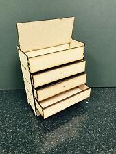 3mm MDF Wooden Box with 3 Drawers