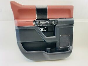 2015 2016 2017 FORD F-150 KING RANCH REAR LEFT OEM DOOR PANEL RED FL3B-1627473
