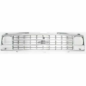 NEW Silver Grille For 1988-1993 C/K 1500 2500 Suburban GM1200141 SHIPS TODAY