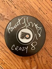 "Brent Fedyk ""Crazy 8�Inscription Autographed Philadelphia Flyers Puck"