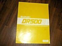 Suzuki DR500S Ergänzungs-Service-Handbuch 1981 Original