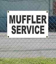 2x3 MUFFLER SERVICE Black & White Banner Sign NEW Discount Size Price FREE SHIP