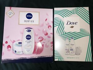 2x Ladies Toiletry Gift Sets- Nivea Dreamy Rose & Dove Relaxing Care Brand New