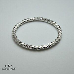 925 Sterling Silver Ring Twist Slim Size J,K,L,N1/2,O,P,Q,S Stacking + Gift Bag