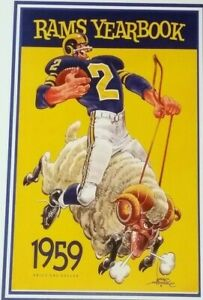 1959 Los Angeles Rams Poster - Del Shofner - Aaron Donald - Matthew Stafford
