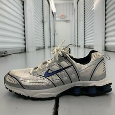 Nike Shox 050709 White Blue Running Shoes Lace Up Low Top Mens Us Size 10.5