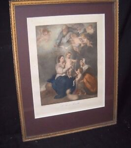 """""""The Holy Family""""by Spanish artist Murillo,hand finished print"""