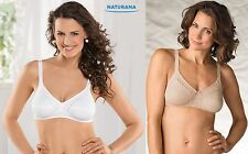 NATURANA 86545 COTTON WHITE OR SKINTONE SOFT CUP BRA 34-44 A B C D DD