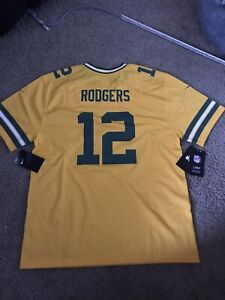 NEW - Nike On Field Youth Aaron Rodgers 12 Packers Gold Jersey - Size XL 18/20