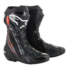 Alpinestars Supertech R Vented Mens Motorcycle Boots Black/Dark Gray/Fluo Red
