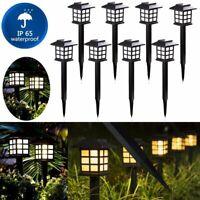 8Pack Solar Power Pathway Light Outdoor Garden Lamp Landscape Lawn Walkway Yard