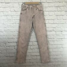 Vintage Wrangler Size 9 Jeans High Waist Pink Stone Washed Retro Western ***READ