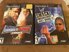 WWE SmackDown vs. Raw 2009 & Just Bring It Sony PlayStation 2 PS2 Complete!