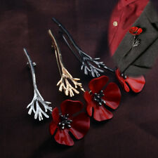 Remembrance Day Suit Collar Pins Accessories Poppy Pin Brooch Badge Red Flower