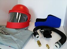 CLEMCO APOLLO 600 SANDBLASTING RESPIRATOR W/ DLX SUSPENSION & AIR CONTROL VALVE