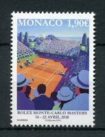 Monaco 2018 MNH Rolex Monte-Carlo Masters 1v Set Tennis Sports Stamps