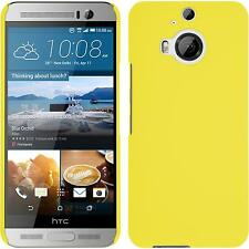 Funda Rígida HTC One M9 Plus - goma amarillo + protector de pantalla