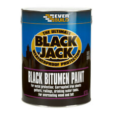 Everbuild 901 Black Jack | BLACK BITUMEN PAINT | Gutters Iron Sheets Rails | 5L