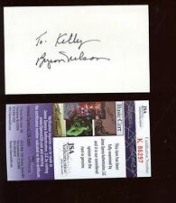 Byron Nelson Pro Golf Autographed 3x5 Index Card JSA