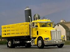1/64 SPECCAST YELLOW PETERBILT 385 STAKE BED TRUCK
