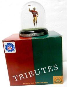 Upper Deck Joe Montana Mini Figure Figurine Glass Dome Display SF 49ers Football