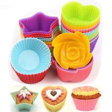 Cocina Silicona Pastel Mollete Taza Cupcake Molde Antiadherente Sartén Huevo Tarta Hornear Molde