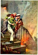 Cartolina Marina - Dalla I^ Pagina Della Domenica Del Corriere 1913, L'Eroismo