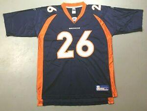 Clinton Portis #26 Denver Broncos NFL Reebok Blue Screened Jersey Size Large
