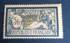 France N° 123a 5 F Bleu Et Olive Neuf ** Signe Calves Et TB Qualité Côté 425€