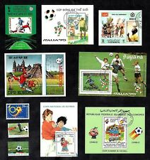 Football World Cup Stamp Sheets Collection Mint Stamps Italy France Mexico Spain