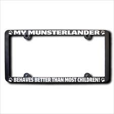 Munsterlander Behaves Better Frame w/Reflective Text