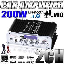 Waterproof  2 Channel Motorcycle Bluetooth Wireless Amplifier Audio Stereo AMP