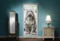 Door Mural Snow Leopard View Wall Stickers Decal Wallpaper 210