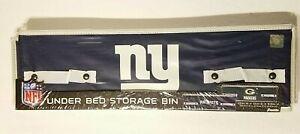 """NFL NY GIANTS Under Bed Storage Bin w/ Handles  22""""X12""""X6.5"""" Blue /White NEW"""