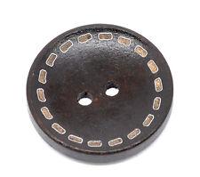 10 botones estilo Boho de madera 25mm (1 pulgadas) Marrón Oscuro/Negro