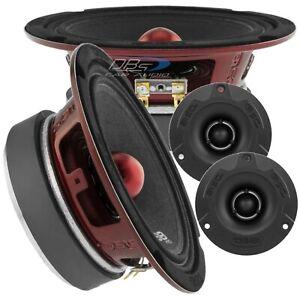 2x DS18 PRO-X6.4BM 6.5″ Midrange Bullet Speakers 2x PRO-TWX1BK Super Tweeter