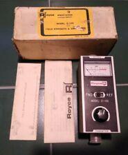 Vtg ROYCE MODEL 2-100 Field Strength & SWR METER Original Box & Papers