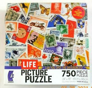 Life Picture Puzzle 750 Piece Postage Stamp Can You Spot The Differences Ceaco