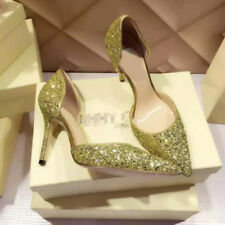 Women Party Shoes Stiletto Pointed-toe High Heels Bling Pumps Wedding Shoes New