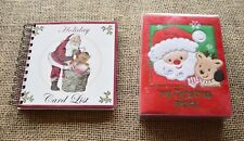Set of Holiday Card List Book and Baby Essentials Christmas Photo Brag Book