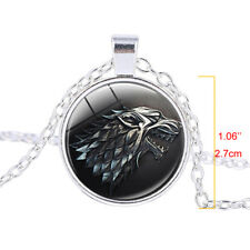 Game of Thrones House Stark Song of Ice and Fire Wolf Pendant Necklace