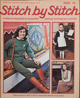 Stitch By Stitch Sewing Knitting Crochet Guide Book Part 15 Cavendish 1978 Vntag