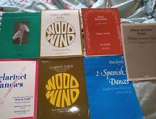 Clarinet Sheet Music Bundle x7. Intermediate level.