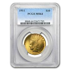 1911 $10 Indian Gold Eagle MS-64 PCGS - SKU #94520