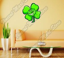 "Shamrock Clover Ireland Irish Good Luck Wall Sticker Room Interior Decor 21""X22"""