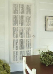 """Heritage Lace 48""""Wx63""""L  WHITE """"ENGLISH IVY"""" Door Panel - Made in USA!"""