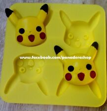 1pc Pokemon Pikachu Chocolate Fondant Clay Jelly Silicone Soap Mold Molder
