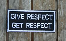 patch, GIVE RESPECT, GET RESPECT 9/4cm, broder et thermocollant